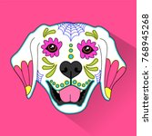 day of the dead   mexican folk... | Shutterstock .eps vector #768945268