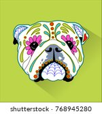 day of the dead   mexican folk... | Shutterstock .eps vector #768945280