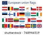 european union flags | Shutterstock . vector #768946519