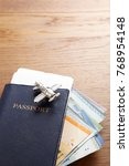 travel concept passport and... | Shutterstock . vector #768954148