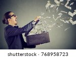 excited business man opening an ... | Shutterstock . vector #768958723