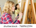 art school  creativity and... | Shutterstock . vector #768961594