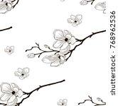 vector black decorative... | Shutterstock .eps vector #768962536