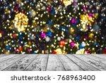 christmas background table | Shutterstock . vector #768963400