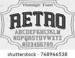 vintage font  handcrafted... | Shutterstock .eps vector #768966538