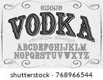 font alphabet handcrafted... | Shutterstock .eps vector #768966544