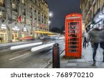 london  november  2017  a... | Shutterstock . vector #768970210