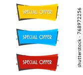 special offer sale banner for... | Shutterstock .eps vector #768972256