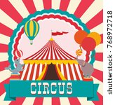 circus poster. performance of... | Shutterstock .eps vector #768972718