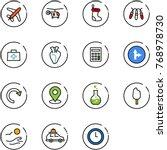 line vector icon set   plane... | Shutterstock .eps vector #768978730