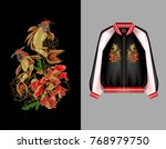 a print for a bomber or a...   Shutterstock .eps vector #768979750