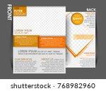 business brochure. flyer design.... | Shutterstock .eps vector #768982960