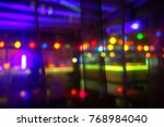 colorful interior of the cafe... | Shutterstock . vector #768984040