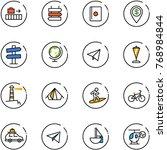 line vector icon set   baggage... | Shutterstock .eps vector #768984844