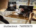 industry 4.0 concept  smart... | Shutterstock . vector #768985870