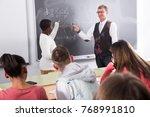 african american guy student... | Shutterstock . vector #768991810