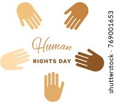 human rights day banner layout... | Shutterstock .eps vector #769001653