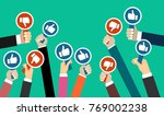 group of business people with... | Shutterstock .eps vector #769002238