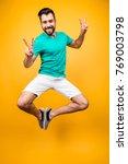 enjoy your life  vertical front ...   Shutterstock . vector #769003798