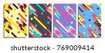 vector set of abstract retro... | Shutterstock .eps vector #769009414