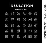set line icons of insulation | Shutterstock .eps vector #769019008