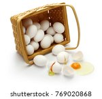 don t put all your eggs in one... | Shutterstock . vector #769020868