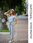 portrait of a very attractive... | Shutterstock . vector #769021690