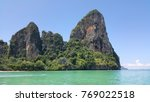 railay bay and beach 2017  ... | Shutterstock . vector #769022518
