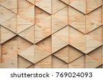wood triangular abstract... | Shutterstock . vector #769024093