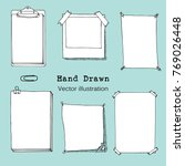 hand drawn cartoon vector set... | Shutterstock .eps vector #769026448
