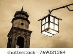 old  antique streetlamp  ... | Shutterstock . vector #769031284