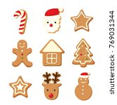 christmas color cookies  | Shutterstock . vector #769031344