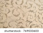 beige botanical carpet pattern... | Shutterstock . vector #769033603
