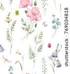 gentle watercolor floral...   Shutterstock . vector #769034818