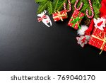 christmas background with tree  ...   Shutterstock . vector #769040170