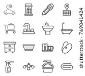 thin line icon set   electric...   Shutterstock .eps vector #769041424