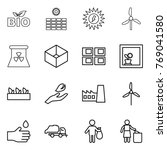 thin line icon set   bio  sun... | Shutterstock .eps vector #769041580
