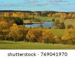 colorful autumn landscape | Shutterstock . vector #769041970