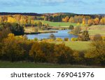 colorful autumn landscape with... | Shutterstock . vector #769041976