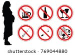 no drugs  alcohol  smoking... | Shutterstock .eps vector #769044880