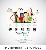 business infographic layout | Shutterstock .eps vector #769044910