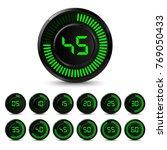 digital black green timer with... | Shutterstock .eps vector #769050433