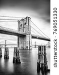 hdr view of brooklyn bridge  ... | Shutterstock . vector #769051330