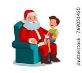 christmas or new year. happy...   Shutterstock .eps vector #769051420