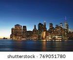 hdr view of manhattan skyline... | Shutterstock . vector #769051780