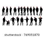men  silhouette  hat  suit ...   Shutterstock .eps vector #769051870