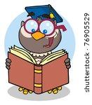 owl teacher cartoon character... | Shutterstock .eps vector #76905529