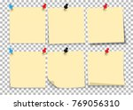 yellow sheet of note paper with ... | Shutterstock .eps vector #769056310