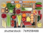 super food for weight loss... | Shutterstock . vector #769058488