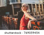 fashion portrait of a young...   Shutterstock . vector #769059454
